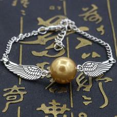 BS177 Браслет Жемчужина с крыльями, цвет серебр.