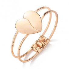BS185 Браслет Сердце, с замком, цвет золот.