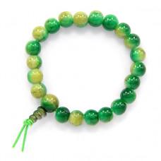 BS218-1 Буддийский браслет - чётки 8мм, пластик, цвет зелёный