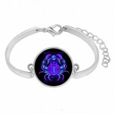 BS263-07 Металлический браслет Знаки Зодиака - Рак