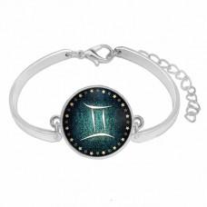 BS264-05 Металлический браслет Знаки Зодиака - Близнецы