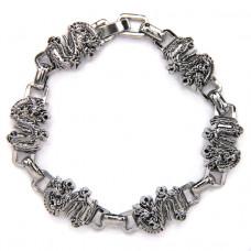 BSM004 Магнитный браслет Дракон, нерж.сталь
