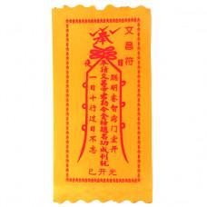 BUD002-10 Буддийский амулет - свиток Для учёбы и сдачи экзаменов 10х20см, ткань