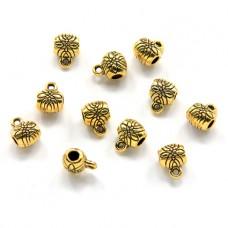 FB0001G-10g Бейлы для бижутерии 6мм, отверстие 2мм, цвет золото, 10гр, ~19шт.