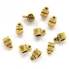 FB0004G-10g Бейлы для бижутерии меандр 5мм, отверстие 3,5мм, цвет золото, 10гр, ~15шт.