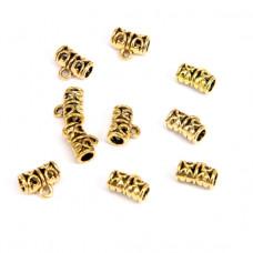 FL1001G Бейлы для бижутерии 10шт. 11х9мм, отверстие d.3мм, цвет золот.