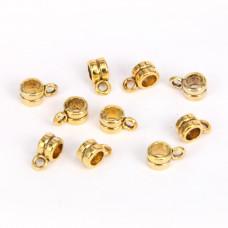 FL1017G Бейлы для бижутерии 10шт. 4х9мм, отверстие d.3мм, цвет золот.