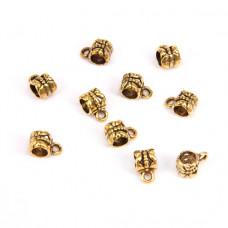 FL1020G Бейлы для бижутерии 10шт. 7х10мм, отверстие d.2мм, цвет золот.