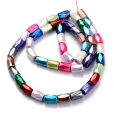 FB8-034 Бусины Магнитный гематит 5х8мм на нити, разных цветов