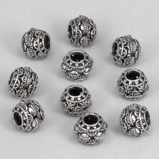 FBE0002S Бусины для европейских браслетов Шар 11мм, 10 шт., цвет серебр.