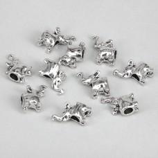FBE0007S Бусины для европейских браслетов Слон 13мм, 10 шт., цвет серебр.