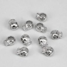 FBE0009S Бусины для европейских браслетов Мешок $ 11мм, 10 шт., цвет серебр.