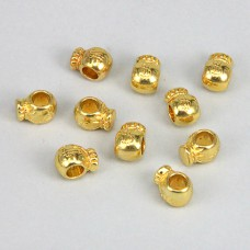 FBE0011G Бусины для европейских браслетов Мешок $ 11мм, 10 шт., цвет золот.