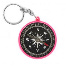 FEK001-1 Компас-брелок 4,5см пластик, цвет розовый