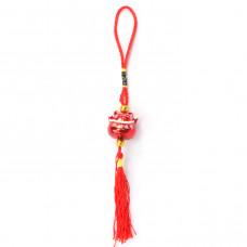 FEP001-2 Подвеска Фэн-Шуй Манеки-Неко 22см, цвет красный