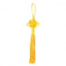 FEP018-03 Подвеска Фэн-Шуй Узел 21см, цвет жёлтый