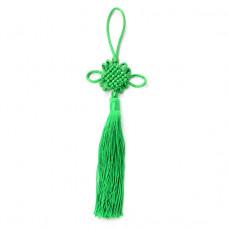 FEP018-04 Подвеска Фэн-Шуй Узел 21см, цвет зелёный
