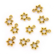 FP0056G-10 Подвески для бижутерии Звезда Давида 13х9мм, 10шт, цвет золот.
