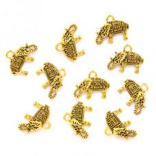 FP0062G-10 Подвески для бижутерии Слоник 13х17мм, 10шт, цвет золот.