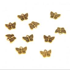 FP1039G Подвески для бижутерии 10шт. Бабочка 13х10мм цвет золот.