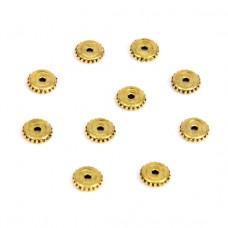 FR1004G Бусины-разделители 10шт. d.6мм, отверстие 1мм, цвет золот.