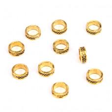FR1005G Бусины Кольцо 10шт. d.8мм, отверстие 5мм, цвет золот.