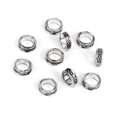 FR1005S Бусины Кольцо 10шт. d.8мм, отверстие 5мм, цвет серебр.