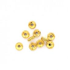 FR1006G Бусины-разделители 10шт. d.7мм, отверстие 2мм, цвет золот.