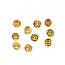 FR1007G Бусины-разделители 10шт. d.6мм, отверстие 1,5мм, цвет золот.