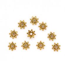 FSH1003G Шапочки для бусин 10шт. 9мм для бусин d.10мм, цвет золот.