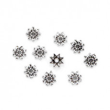 FSH1003S Шапочки для бусин 10шт. 9мм для бусин d.10мм, цвет серебр.