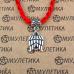 KBV2-014 Шелковая красная нить Ангел-хранитель (крылья), цвет серебр.