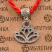 KBV2-031 Шелковая красная нить Гармония и развитие (лотос), цвет серебр.