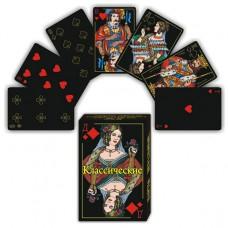 KG10019 Карты игральные классические чёрные 36 карт