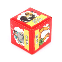KGB003 Кубик гадальный (молодежный) 4х4см, пластик, бумага