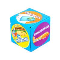 KGB005 Кубик гадальный (офисный) 4х4см, пластик, бумага