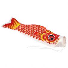KI001 Коинобори (японский ветроуказатель в виде карпа) 40см красный