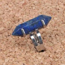 KL017-12 Кольцо с натуральным камнем Лазурит