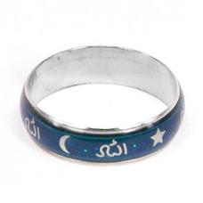 KL017 Кольцо - хамелеон (кольцо настроения) мусульманское, широкое, размер 20мм