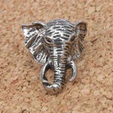KL021-11 Кольцо Слон, размер 11 (20,5мм), цвет серебр.