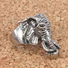 KL021-8 Кольцо Слон, размер 8 (18,5мм), цвет серебр.
