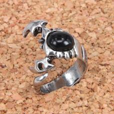 KL029-9 Кольцо Скорпион, размер 9 (19мм), цвет серебр.