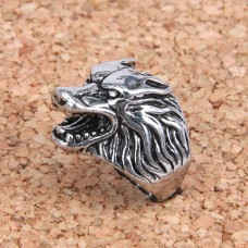KL030-10 Кольцо Волк, размер 10 (19,9мм), цвет серебр.