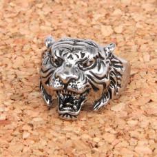 KL031-10 Кольцо Тигр, размер 10 (19,9мм), цвет серебр.