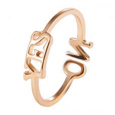 KL041 Кольцо YES - NO безразмерное, цвет золото