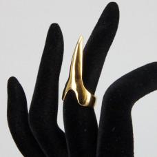 KL042-G-10 Кольцо Коготь, размер 10мм, длина 34мм, цвет золот.