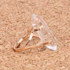 KL043-05 Кольцо с камнем Горный хрусталь