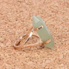 KL043-06 Кольцо с камнем Нефрит
