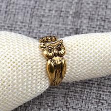 KL090 Кольцо Сова открытое, цвет золот.