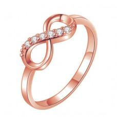 KL105-G-9 Кольцо Бесконечность, цвет золот., размер 9